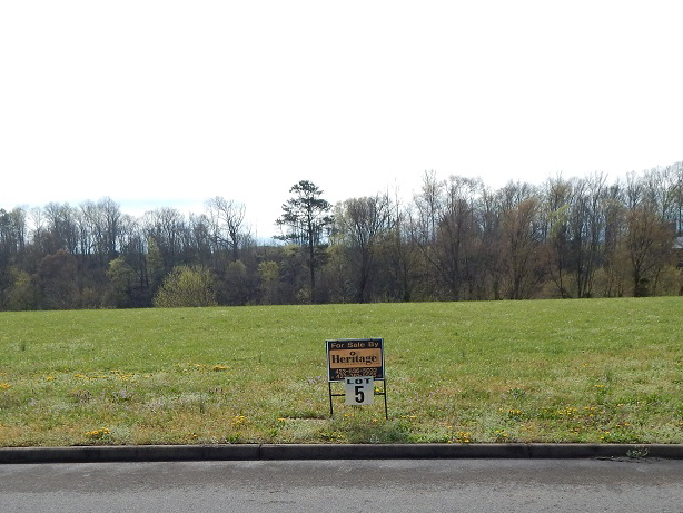 residential property with a sign for lot 5